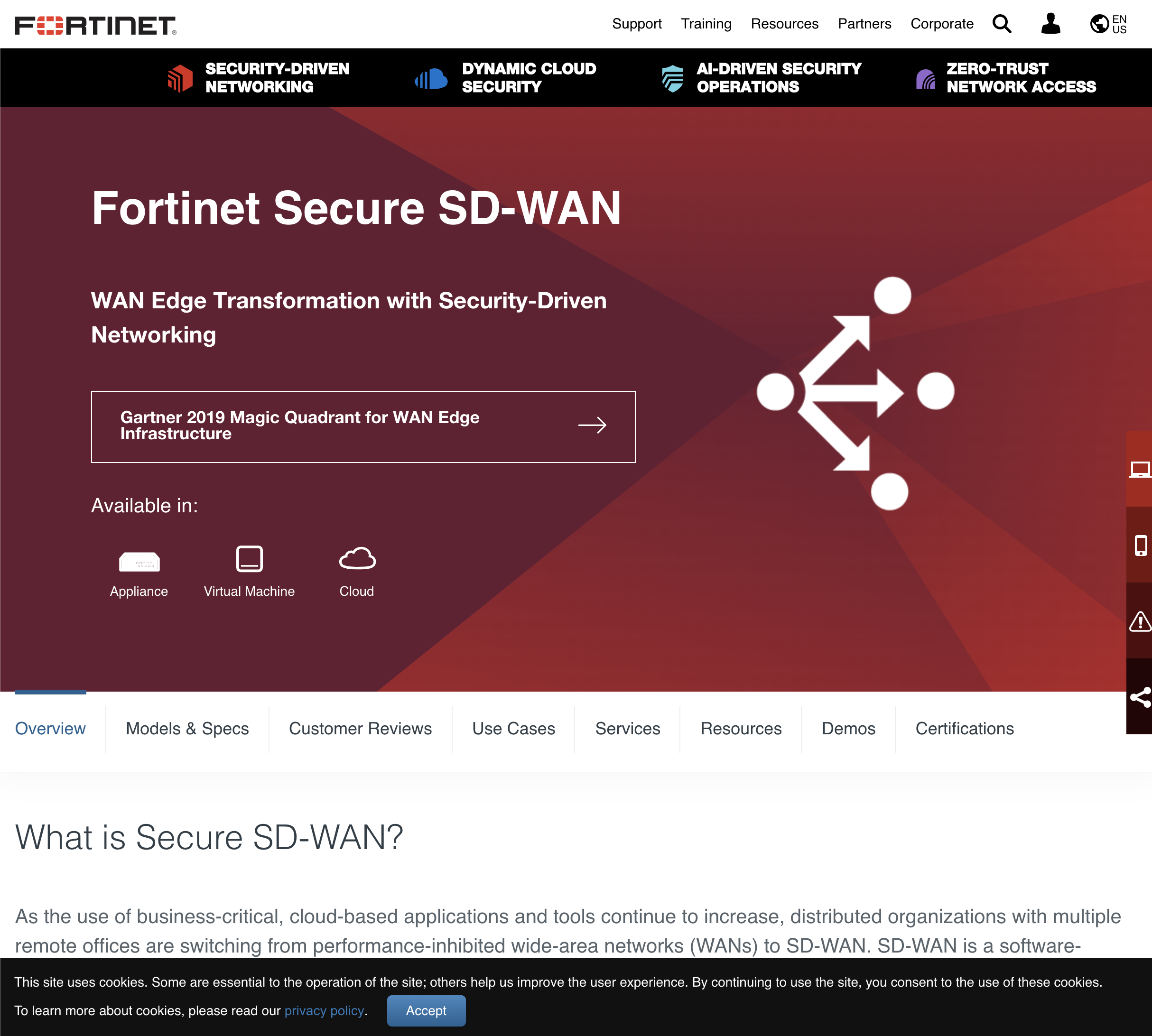 Sd Wan Suppliers: Fortinet SD-WAN